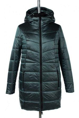 04-2595 Куртка демисезонная (синтепон 150) Плащевка серо-зеленый