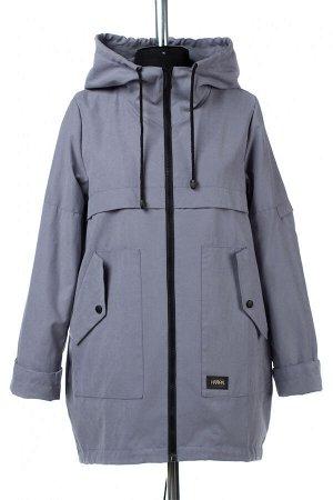 04-2590 Куртка ветровка демисезонная Плащевка серо-голубой