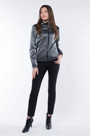 04-2545 Куртка ветровка демисезонная Плащевка серый