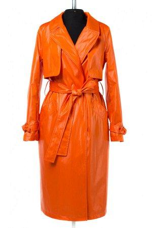 03-3159 Плащ женский (пояс) Плащевка оранжевый