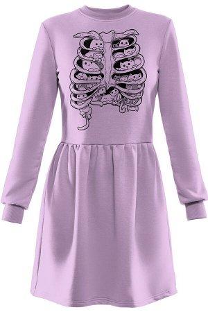 Rawwwr clothing 009.014 лиловый, Платье