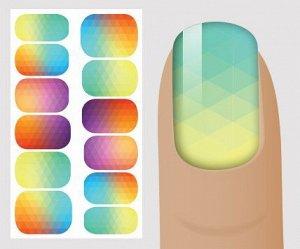 Цветные слайдеры на белый фон