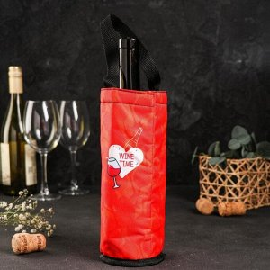 Термочехол для бутылки «Время пить вино»