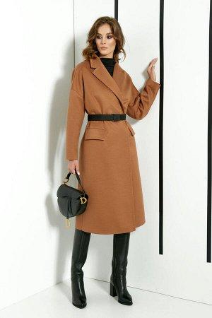 Пальто Пальто DI-LiA FASHION 0371 бежевый  Состав ткани: Вискоза-15%; ПЭ-82%; Спандекс-3%;  Рост: 170 см.  Пальто женское демисезонное, полуприлегающего силуэта из пальтовой ткани, на подкладке. Воро