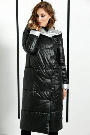 Пальто Пальто DI-LiA FASHION 0367 черный  Состав ткани: ПЭ-100%;  Рост: 170 см.  Пальто женское полупилегающего силуэта из плащевой ткани, демисезонное. Пальто с цельнокроеным капюшоном, с центрально