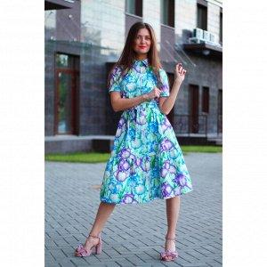 Платье с воланом «Ирисы»