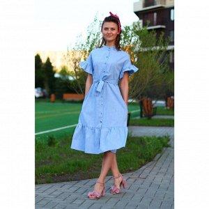 Платье «Голубая незабудка»