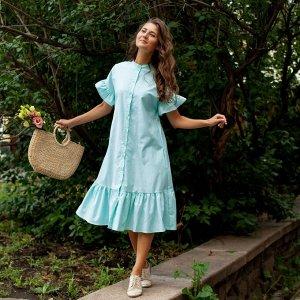 Платье «Мятная Незабудка»