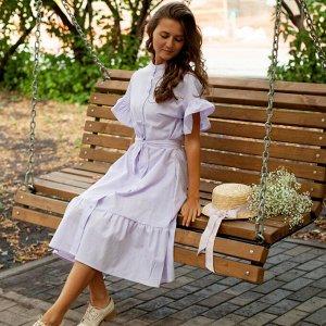Платье «Лиловая незабудка»