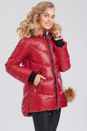 Красный Женские куртки с мехом – это не только модное приобретение, но и залог практичности, комфорта, безукоризненного образа.  Фигурный низ и слегка расклешенные рукава с трикотажными манжетами явля