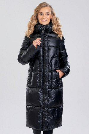 Черный Женские длинные пальто на синтепухе являются настоящим трендом зимнего сезона. Прямой фасон, увеличенная ширина, однотонная расцветка – все это характерно для того, что представляет собой модны