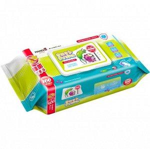 """Салфетки влажные """"MANEKI"""", очищающие с антибактериальным эффектом, 100 шт./упак"""