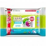 """Салфетки влажные """"Maneki"""", очищающие с антибактериальным эффектом, 20 шт/упак"""