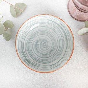 Тарелка глубокая «Искушение», d=14 см, цвет серый