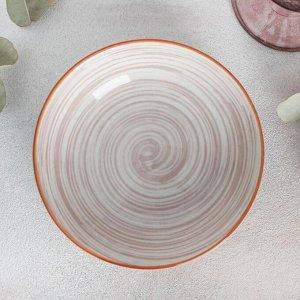 Тарелка глубокая «Искушение», d=14 см, цвет розовый