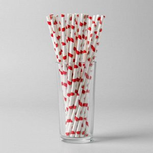 Трубочки для коктейля «Арбузы», набор 25 шт.