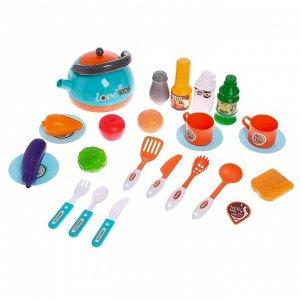 Игровой набор «Кухня шеф-повара», с аксессуарами, свет, звук
