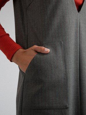 Платье Размерный ряд: 42-54; Состав ткани: вискоза60%, полиэстер37%, эластан3%; Длина: 104 см.; Сезон: Демисезон; Цвет: Серый; Стиль: Повседневный; Фасон: А-силуэт; Ткань: Средней плотности; Рукав: