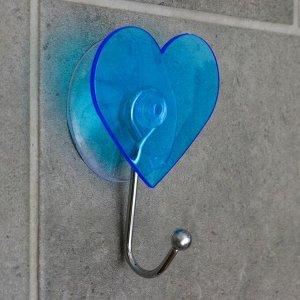 Крючок на вакуумной присоске «Сердце», цвет МИКС 2369467
