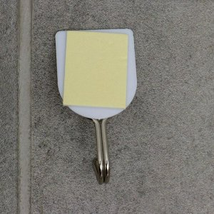 Набор крючков на липучке Доляна «Классика», 6 шт, цвет белый