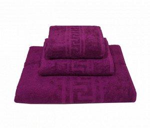 Комплект махровых полотенец, 3 штуки (40*70, 50*90, 70*140 см), 380 гр (Фуксия)