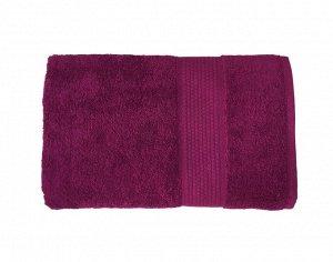 Махровое гладкокрашенное полотенце 100*150 см 400 г/м2 (Фуксия)