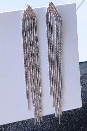 Серьги-гвоздики. Цв. серебро