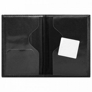 """Обложка для паспорта STAFF """"Profit"""", экокожа, мягкая изолоновая вставка, """"PASSPORT"""", черная, 237183"""