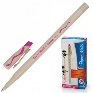 """Ручка стираемая шариковая PAPER MATE """"Replay"""", корпус бежевый, узел 1,2 мм, линия письма 1 мм, S0183001"""