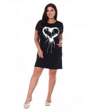 Туника женская Сердце (кулирка)
