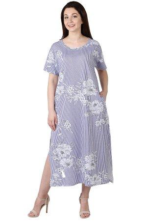 "Платье женское ""Лён. Цветы"""