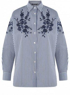Блузка свободного силуэта с вышивкой