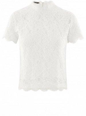 Блузка ажурная с коротким рукавом