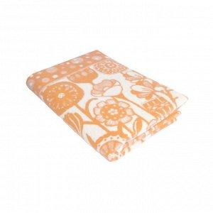 Одеяло байковое жаккардовое «цветы» 212*150