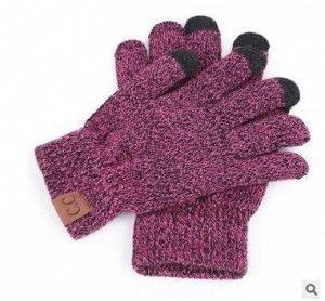 Перчатки с сенсорными пальчиками, розовый