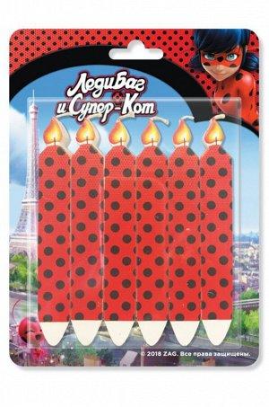 ND Play, Набор свечей для торта Lady Bug 6 шт ND Play