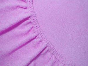 Махровая простынь на резинке «фиолет» 80х200х25
