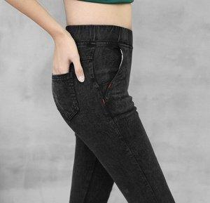 Леггинсы с имитацией джинс на флисе