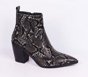 L0072-01-1 черный (Иск.кожа/Байка) Ботинки женские