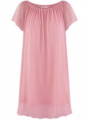 Платье прямое с открытыми плечами