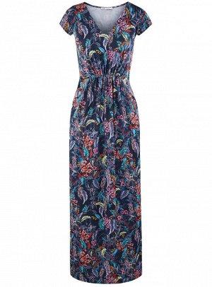 Платье макси с V-образным вырезом