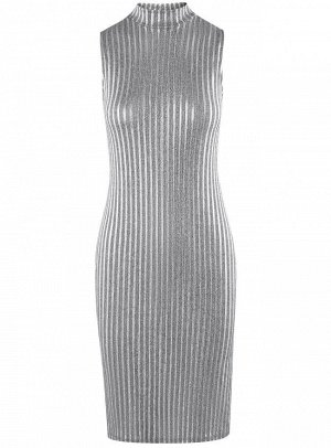 Платье фактурное без рукавов