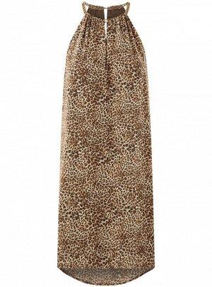Платье из струящейся ткани с цепочками