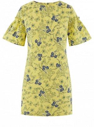 Платье из хлопка прямого силуэта