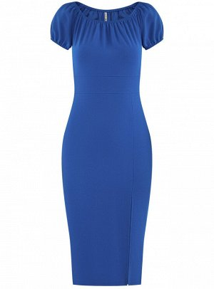 Платье-футляр с рукавами - фонариками