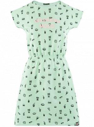 Платье с резинкой на талии
