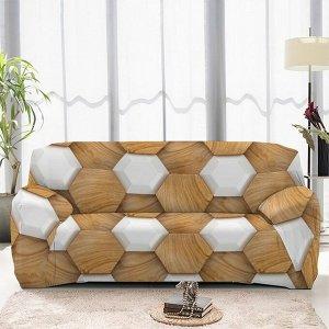 Чехол на диван трехместный ЧХТР071-13338, 195-230 см                              (s-104765)