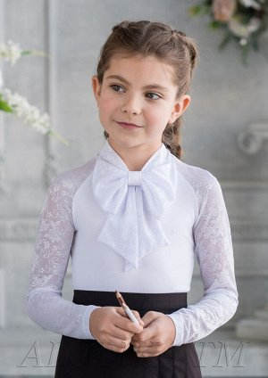 Снежанна блузка трикотажная белый