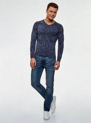 Пуловер принтованный из хлопка