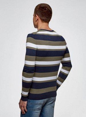 Джемпер полосатый с круглым вырезом